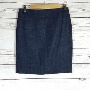 5/$25 J. Crew Jean skirt size 4